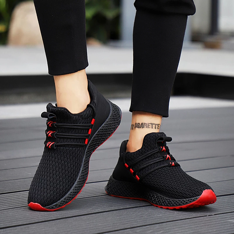 Mesh Breathable Men Shoes Sneakers Comfortable Casual Shoes  Fashion Lace Up Sneakers is part of Shoes - AutumnInsole Material RubberPattern Type Mixed ColorsFit Fits true to size, take your normal sizeShoes Type Basic