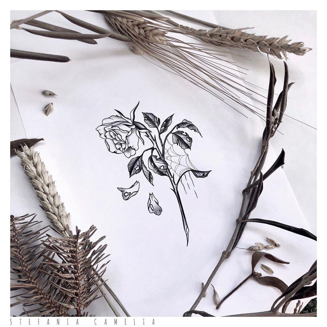 . Rose 🥀🕸 available/disponibile . . #rose #flower #tattooflash #flowertattoo #stefaniacamelia #tattoo #stickerappcovid #tatuaggio #ink #tttism #tattooitalia #blacktattoo #tattoodo #linework #minimal #tattoooftheday #lovetattoo #inkmagazine #tattooculture #artist #design #blackworksubmission #italy #ravenna #padova #riccione #roma #milano
