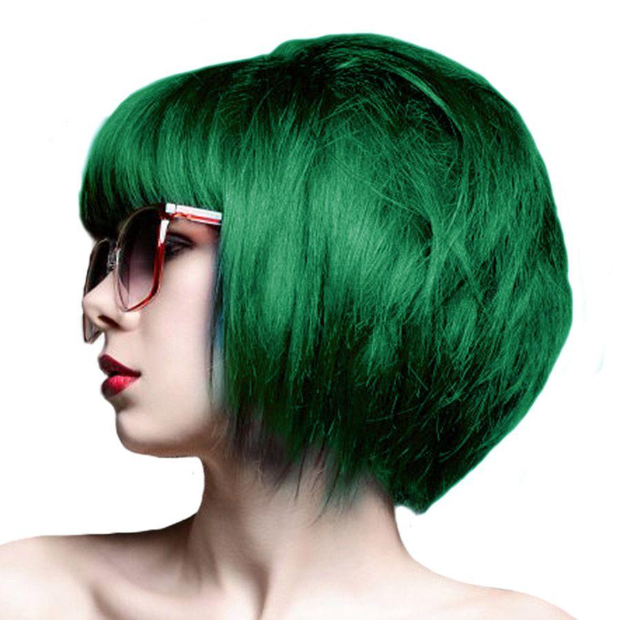 Crazy color semipermanent hair dye ml emerald green like it