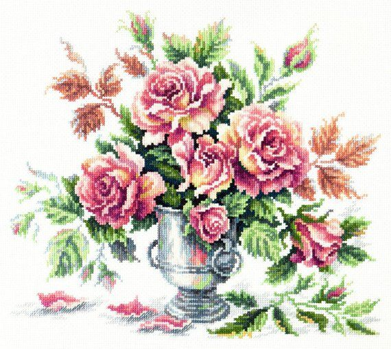 Cross Stitch Kit Pink tenderness art 40-71