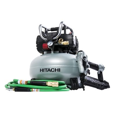 shop hitachi power tools hitachi brad nailer and pancake compressor combo kit at lowes canada find our selection of air compressors at the lowest price
