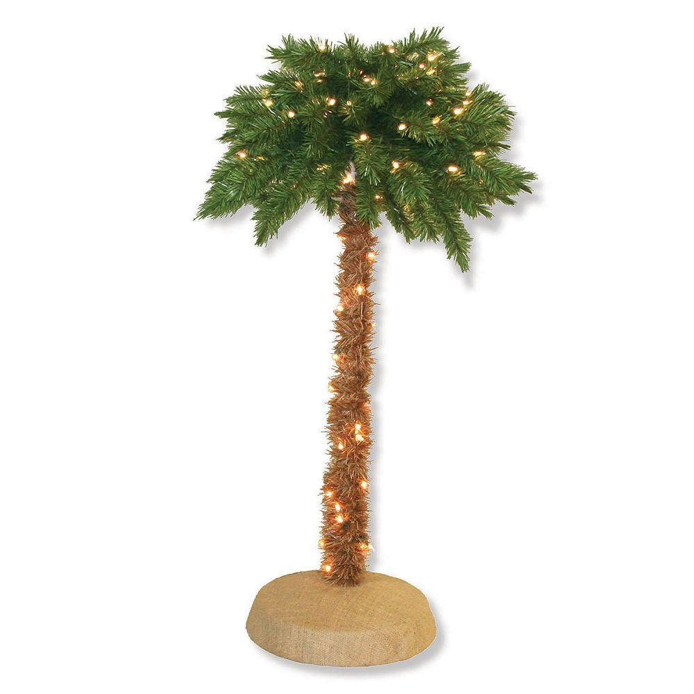 General Foam Plastics 4-ft. Pre-Lit Artificial Palm Tree ...