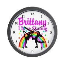 FOREVER SKATING Wall Clock http://www.cafepress.com/sportsstar/10189550 #Ilovefigureskating #Iceprincess #Figureskater #IceQueen #Iceskate #Skatinggifts #Iloveskating #Borntoskate #Figureskatinggifts #PersonalizedSkater