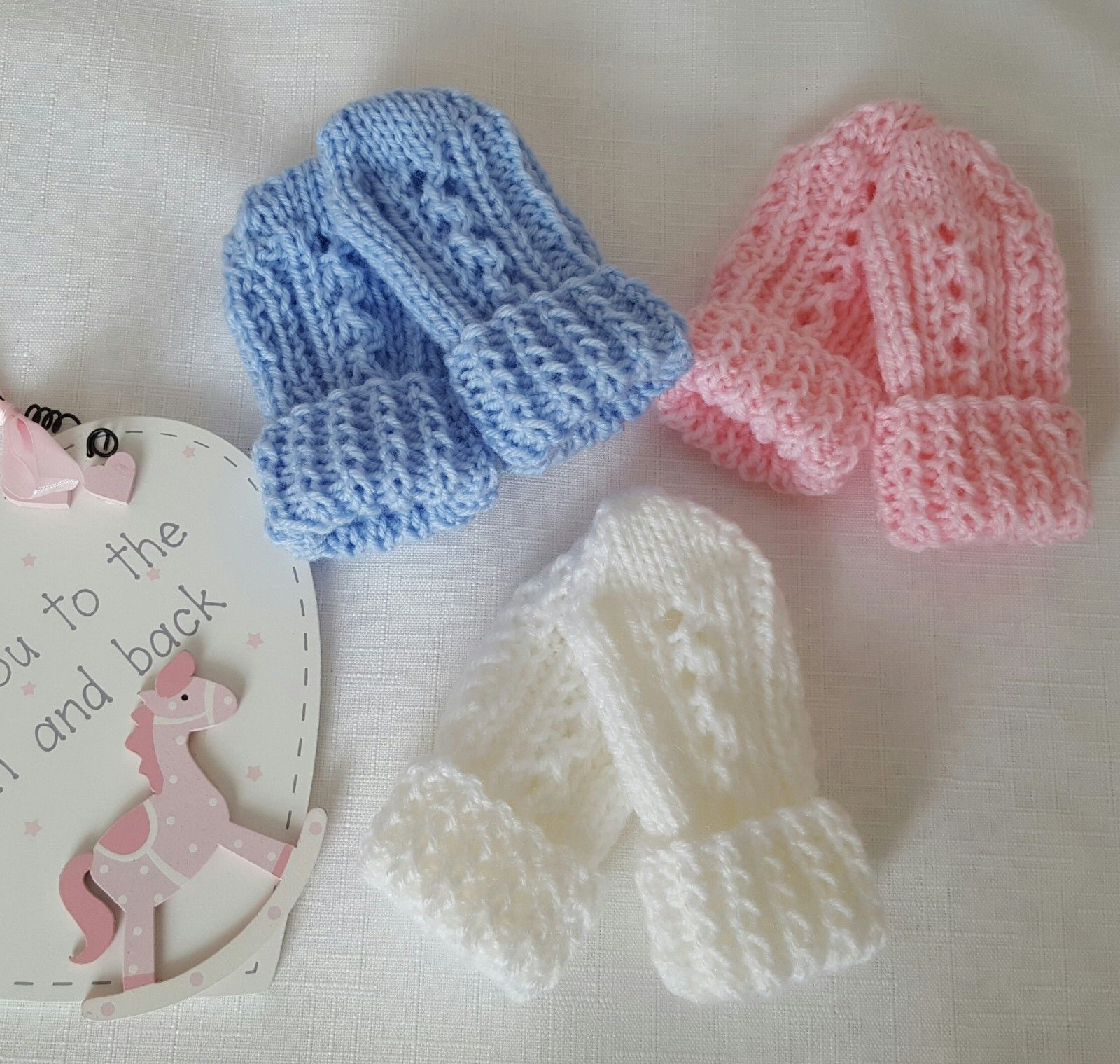 Knitting Pattern DK 68 TO KNIT Baby Thumbless Mittens in ...