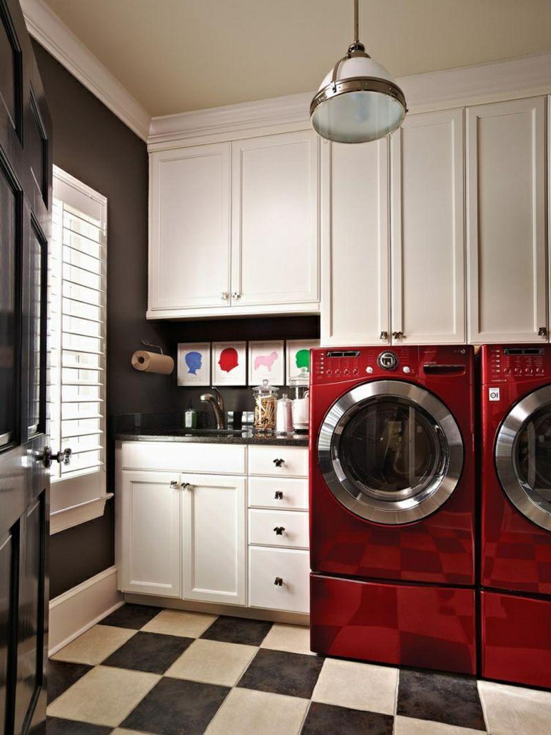 Blickfang Waschmaschine Einbauschrank Beste Wahl Und Trockner Rot Modern