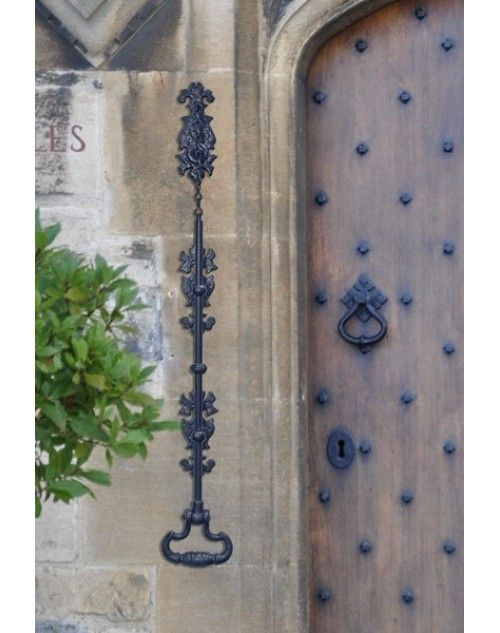 Gothic door bell pull rod - black iron - Gothic Door Bell Pull Rod - Black Iron Open Sesame In 2018
