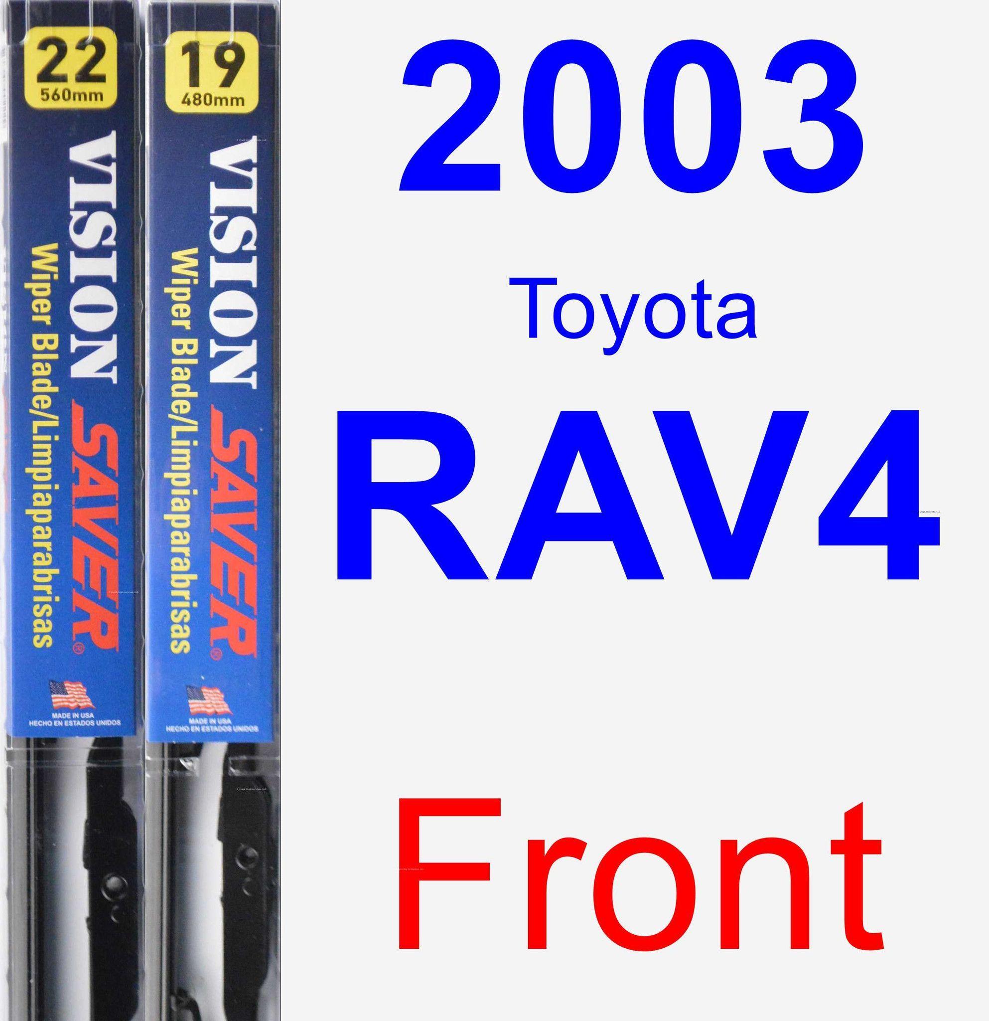 Front Wiper Blade Pack For 2003 Toyota RAV4