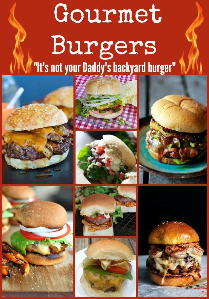 Gourmet Burger Recipes Med Billeder Madopskrifter Aftensmad Mad Og Drikke