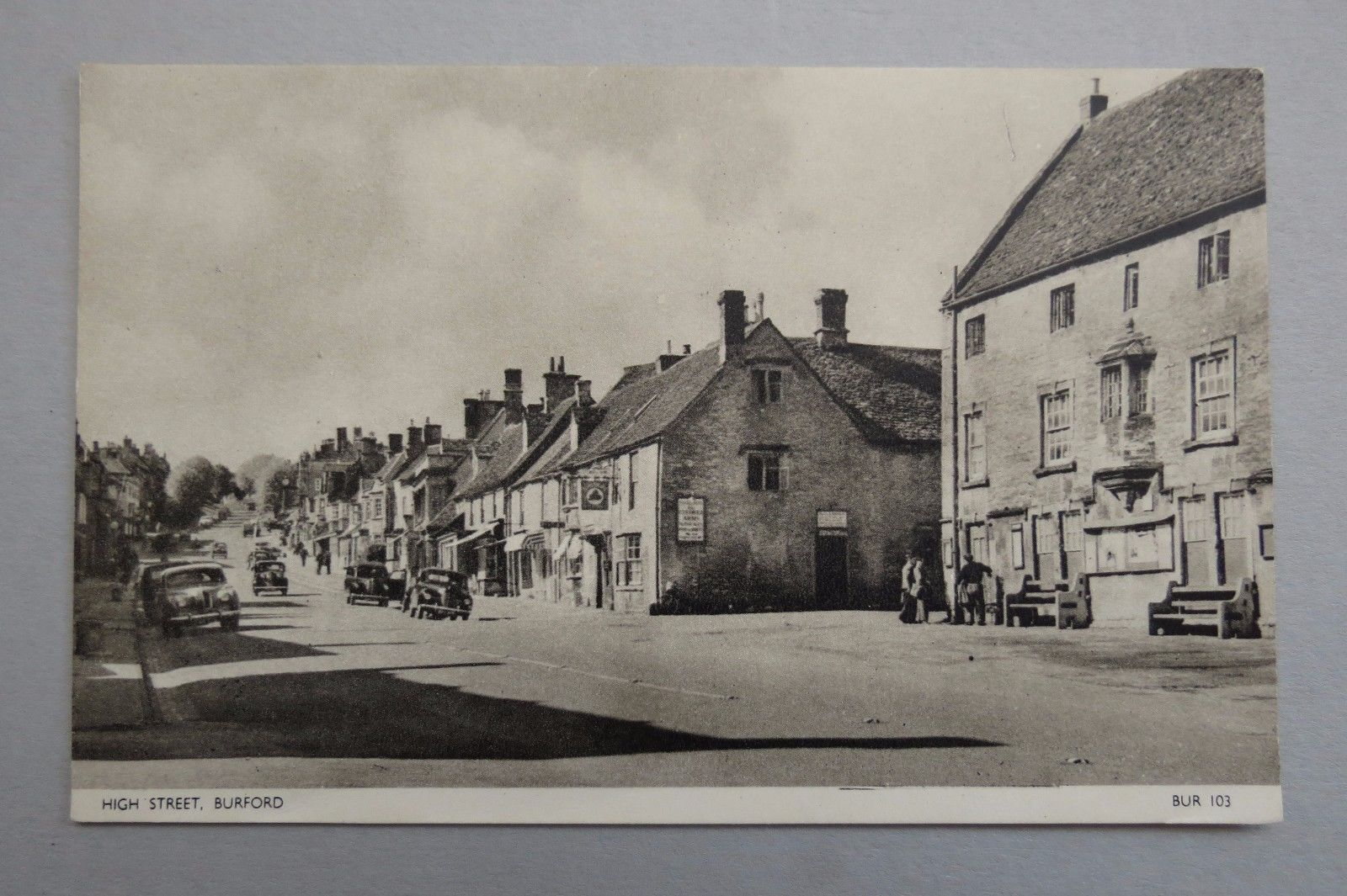 Postcard High Street Burford Old Cars Unused | eBay | Oxfordshire ...