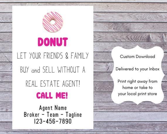 graphic regarding Printable Pop by Tags named SALE! True Estate Donut Tags Printable Pop As a result of Present Real estate agent