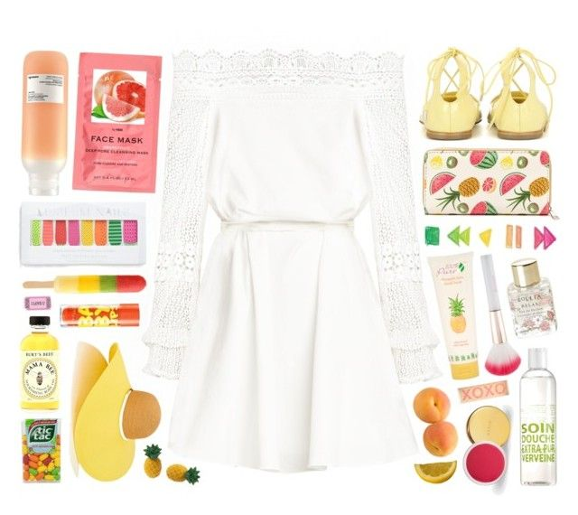 """""""Fresh Summer."""" by itgirlz ❤ liked on Polyvore featuring Eugenia Kim, Jimmy Choo, La Compagnie de Provence, H&M, AERIN, Davines, Burt's Bees, 100% Pure, Maybelline and Accessorize"""
