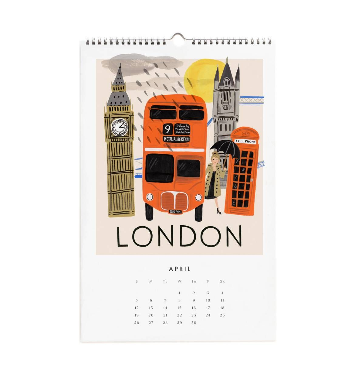2015 Travel The World Wall Calendar By RIFLE PAPER Co