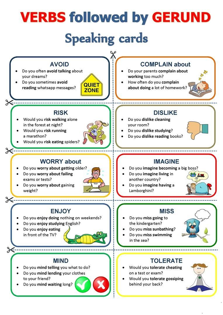 Verbs That Are Followed By Other Verbs Can Take Either The Gerund