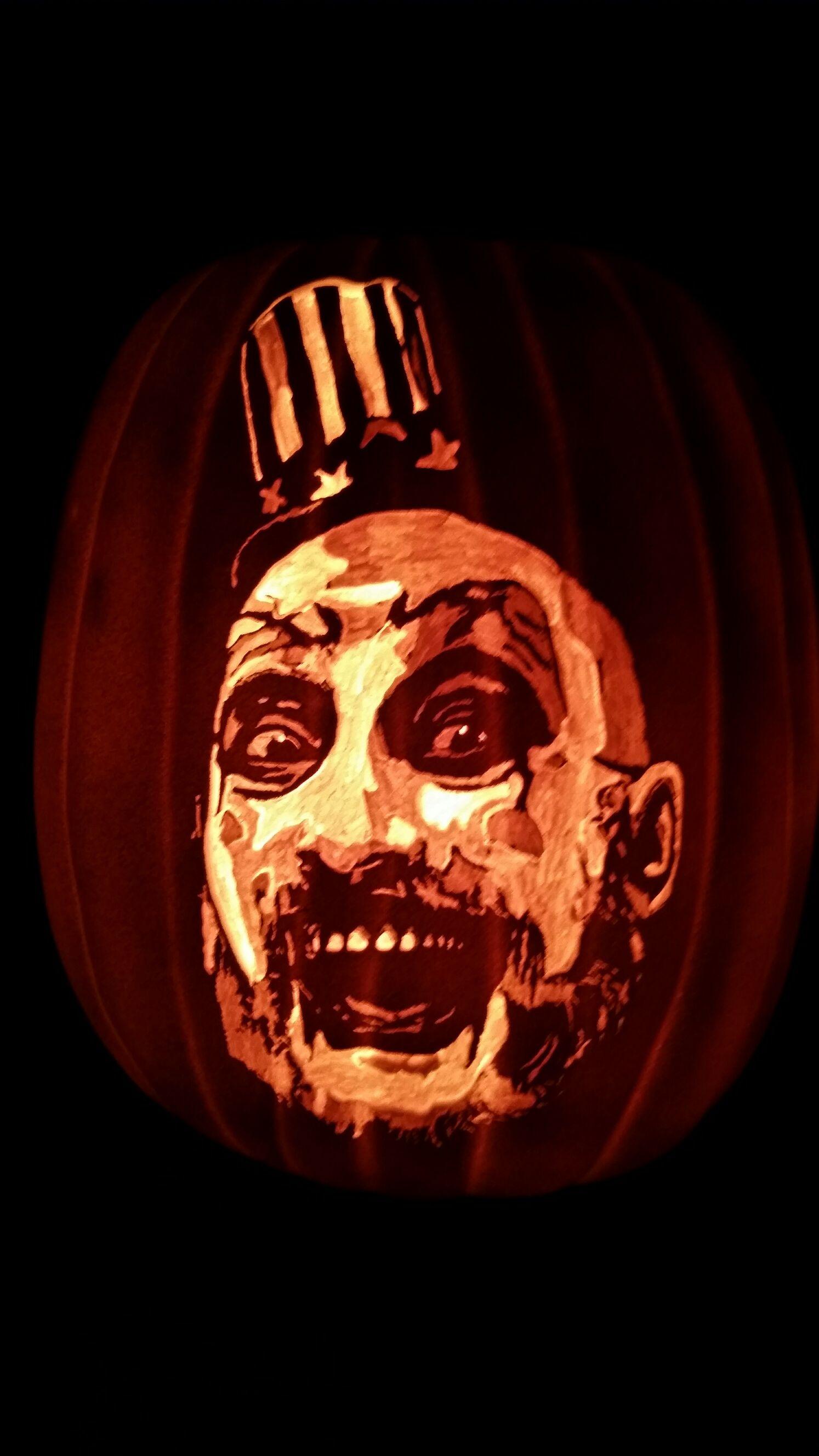 Sid Haig Captain Spaulding Pumpkins Carved Pinterest Pumpkin