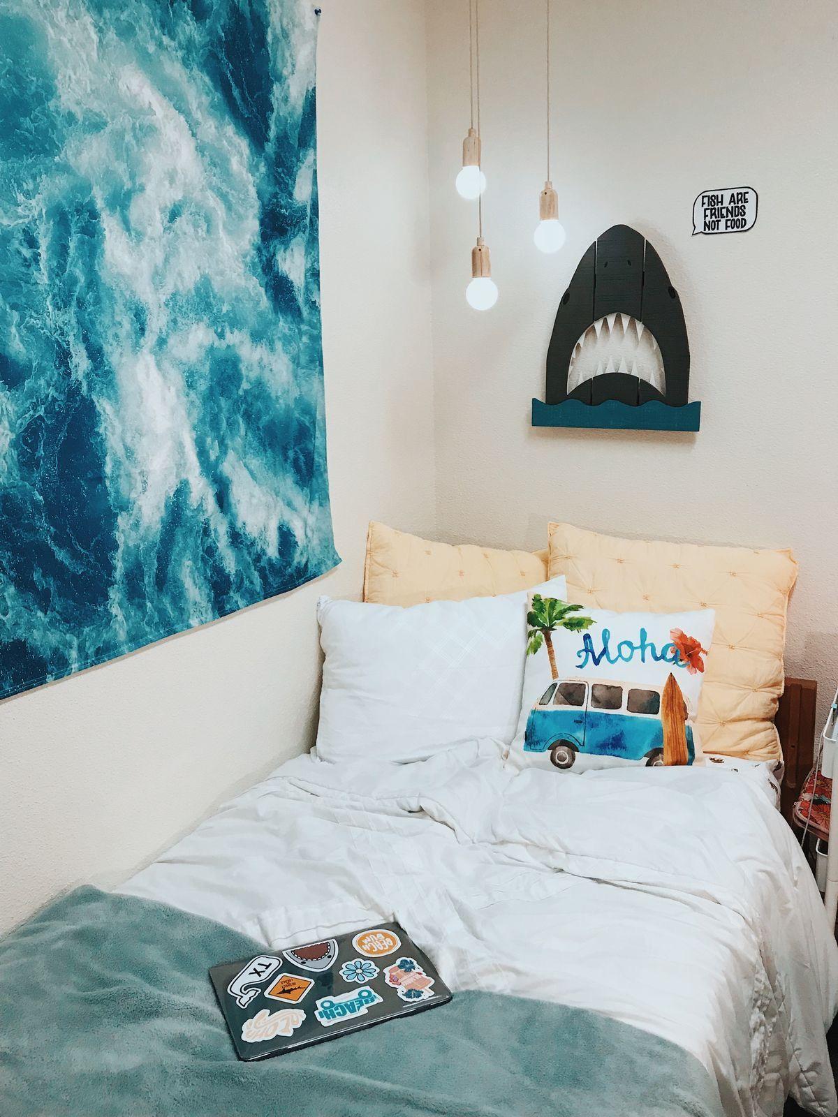 Beach Dorm Rooms Room Decor Style Bedroom