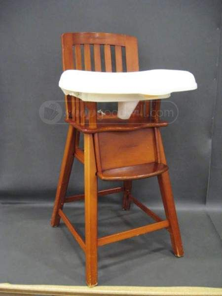 Eddie Bauer Wood High Chair With Double Tray With Images Wood