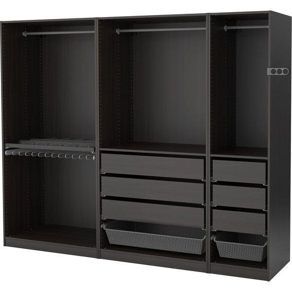 Walk-in Wardrobe Open Wardrobe IKEA (4 235 SEK) ❤ liked on - armoire ikea porte coulissante