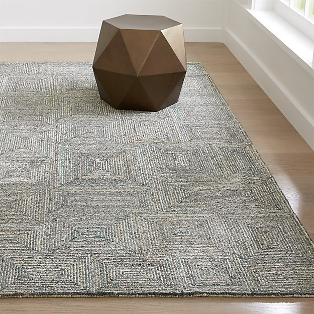 Presley Heathered Rug Crate And Barrel Crate And Barrel Rugs Geometric Rug Rugs