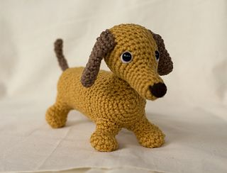Amigurumi Wiener Dog Pattern : Wiener dog pattern by miss dolkapots wiener dogs crochet hooks