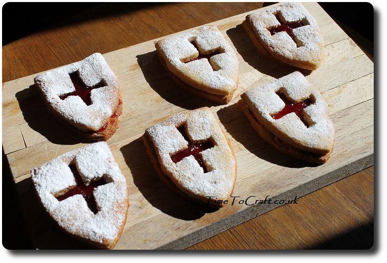 Jammy Dodger St George Day biscuits