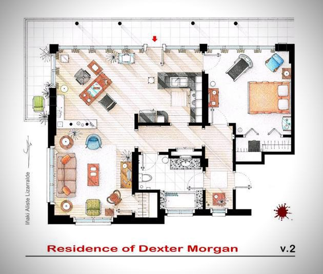 Floor Plans From Famous TV Shows | cover.dk