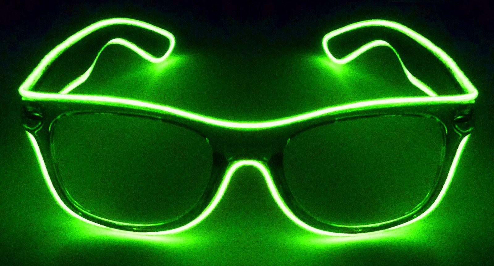Glowcity led el wire light up sunglasses eyewear shades for night
