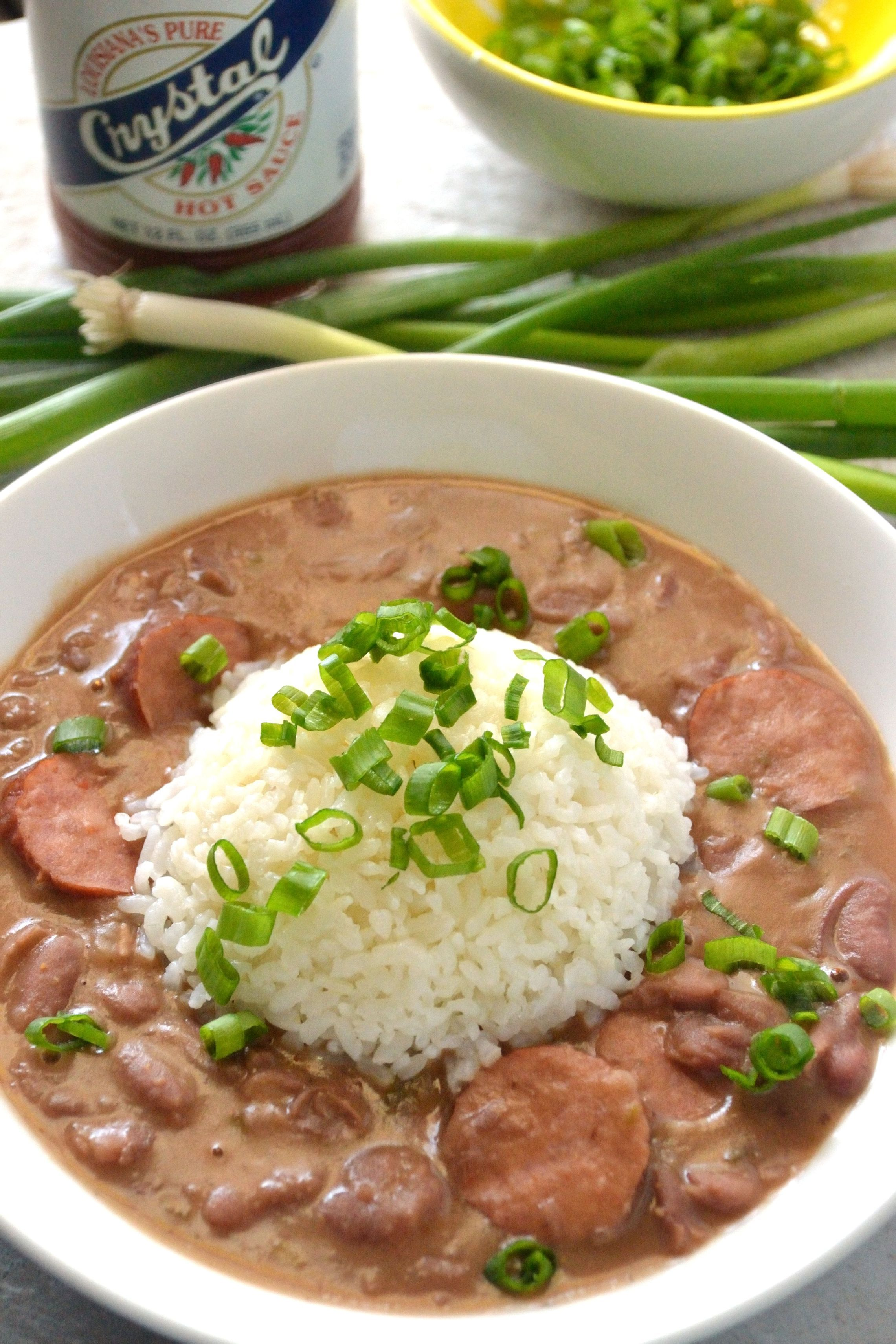 Pressure Cooker Red Beans and Rice #ricecookermeals