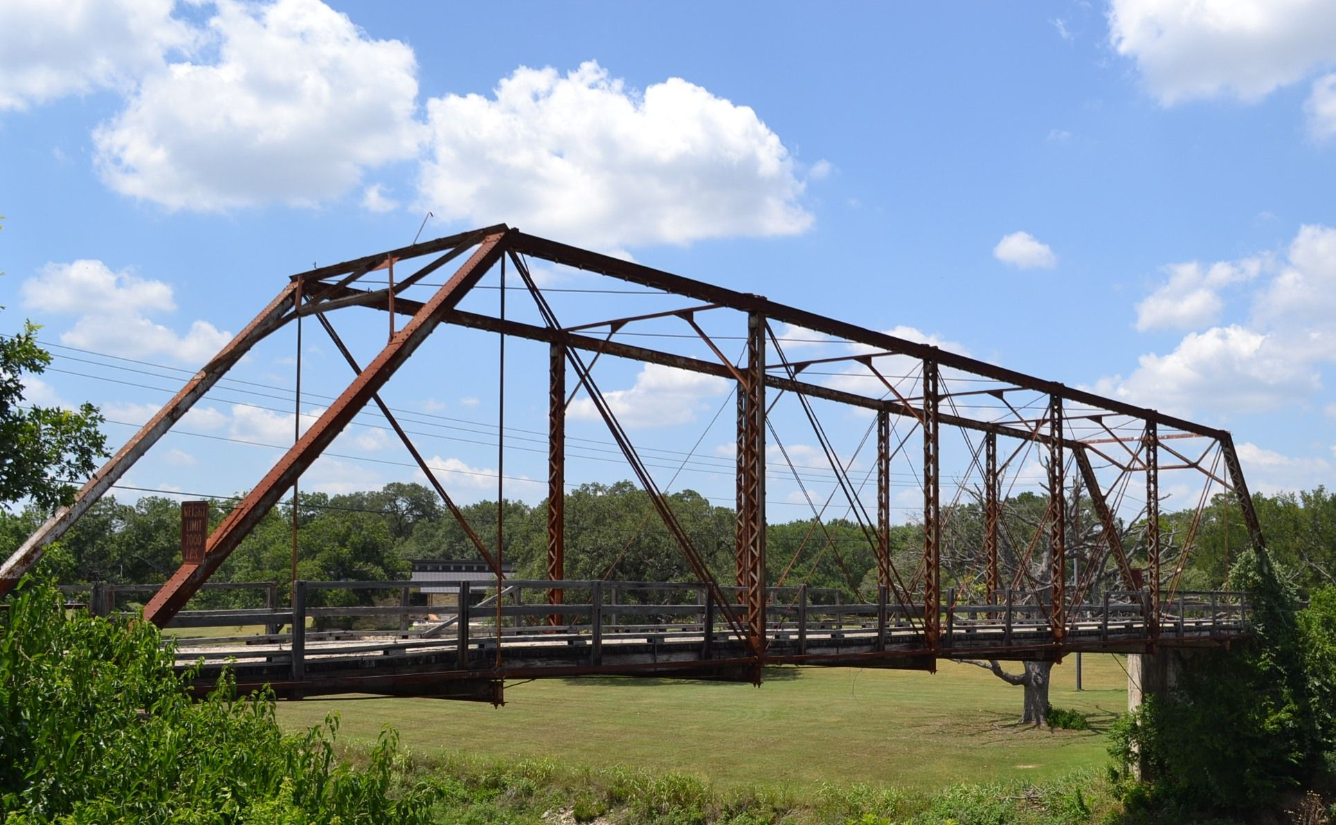 Old Airport Bridge over Berry Creek in Geor own Texas