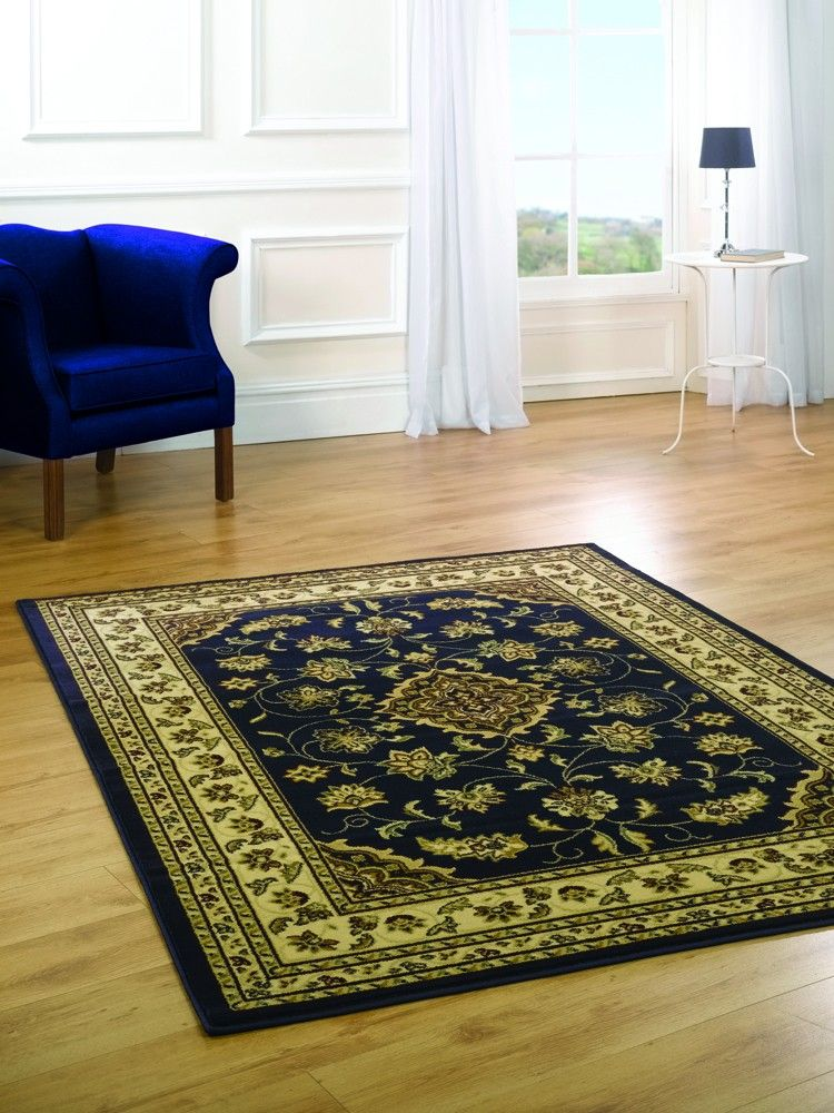 Sincerity Sherborne #Traditional #Rug In Navy