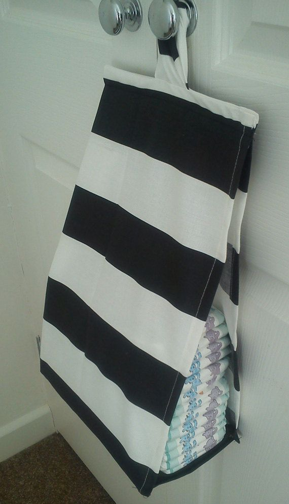 Space Saving Nappy Diaper Stacker Black And White Stripe Storage Bag Baby Sewing Projects Diy Baby Gifts New Baby Products