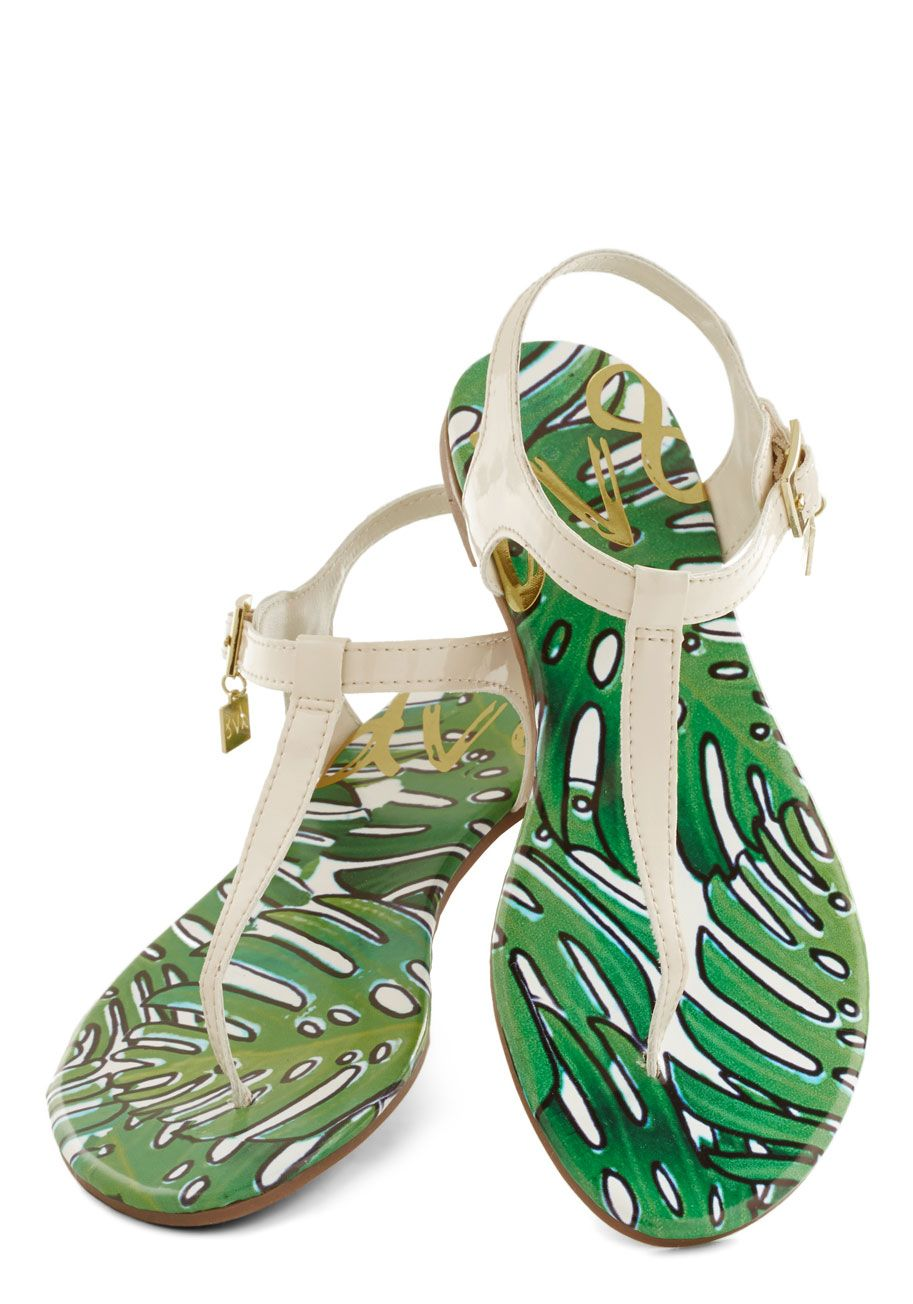 Palm Springs Promenade Sandal. Stay cool, palm, and collected throughout your California getaway with help from these T-strap sandals from DV8 by Dolce Vita! #white #modcloth