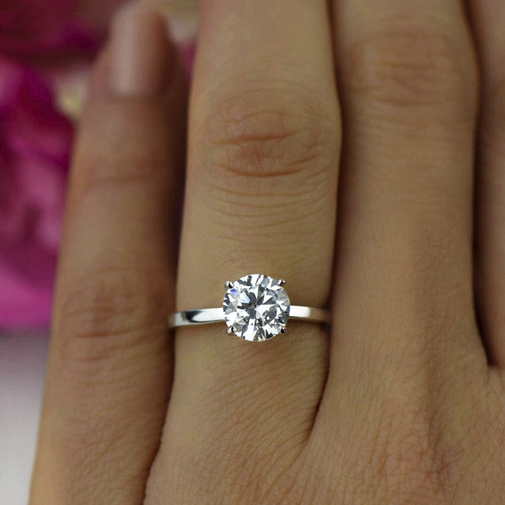 with pave halo electroplate rhodium round engagement center line sterling in rings simulated silver ring triple veneer zirconite wedding diamond set ct settings simulant shank