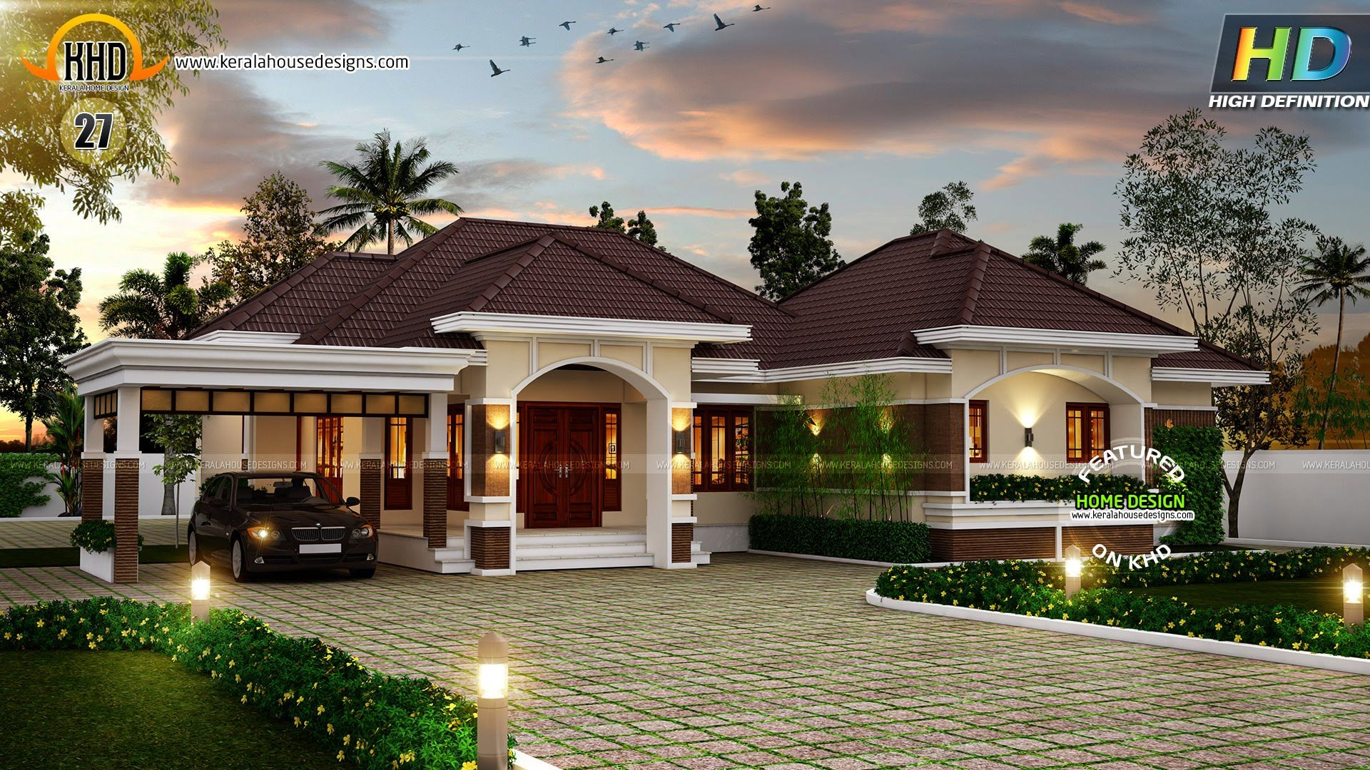 New House Plans For October 2015 Bungalow House Design Kerala House Design Modern Bungalow House