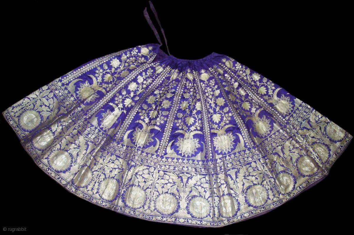Zari Brocade Wedding Skirt from Varanasi Uttar Pradesh