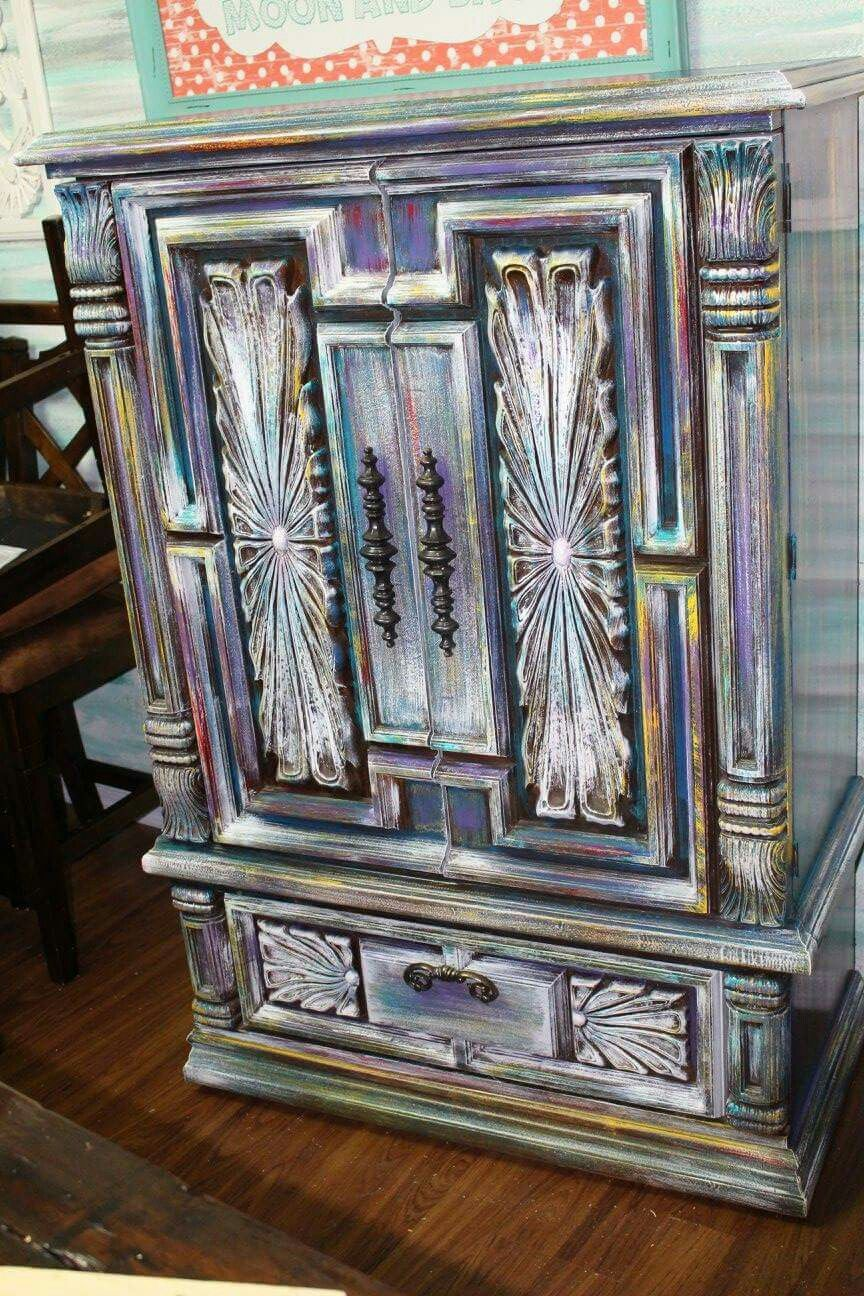 Unicorn Spit Armoire , dresser refinish. Omg this. This is so ...