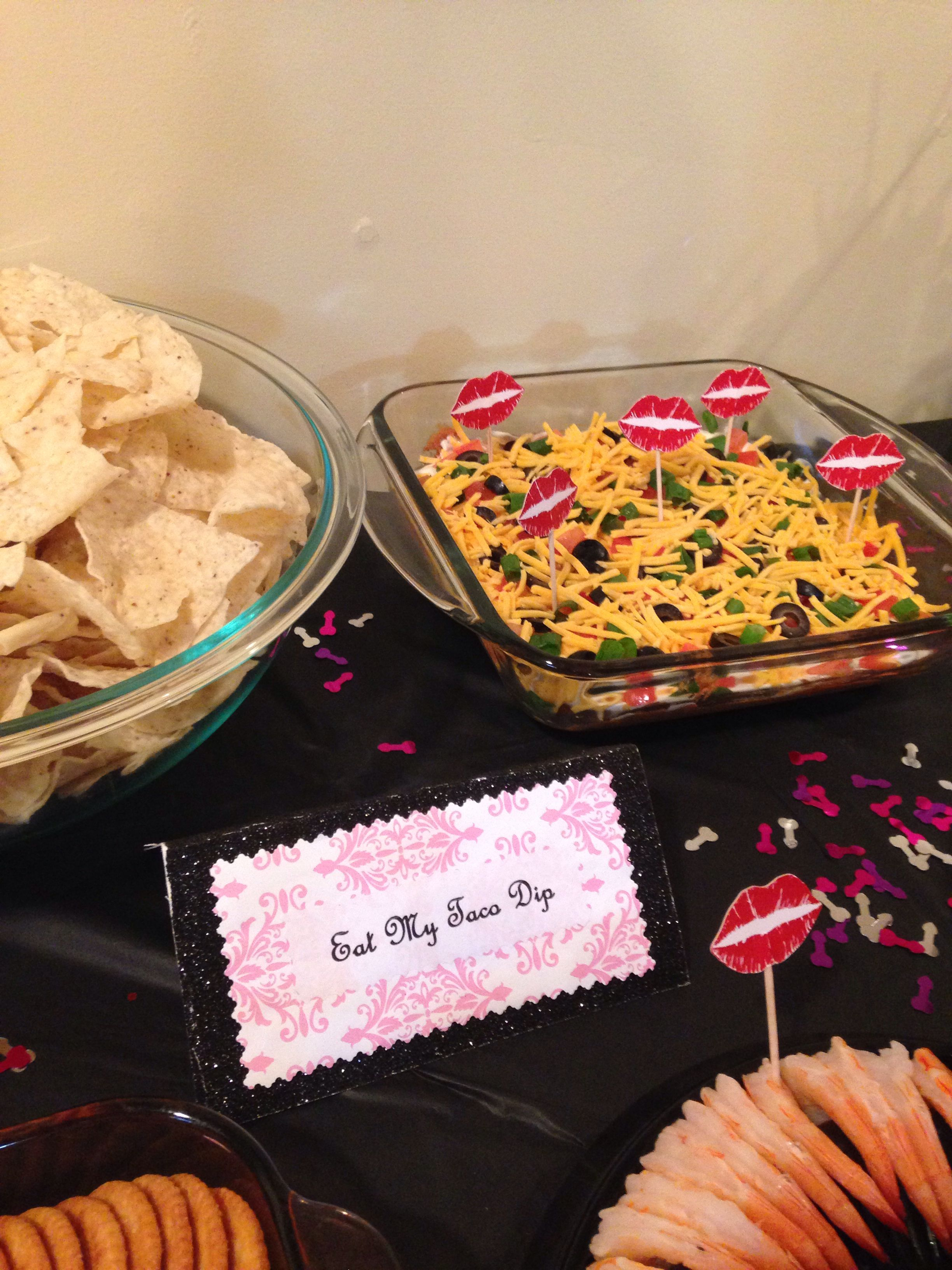 Taco Dip For My Pure Romance Party Pure Romance Party Food Bachelorette Party Food Pure Romance Party