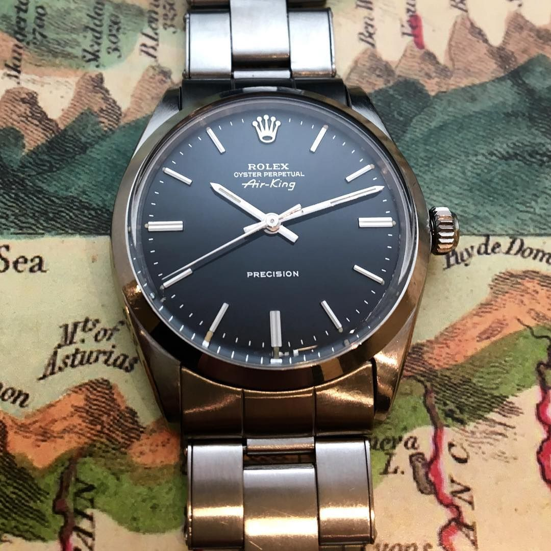 Rolex AIRKING Ref. 5500 with Gilt Mirror Dial from