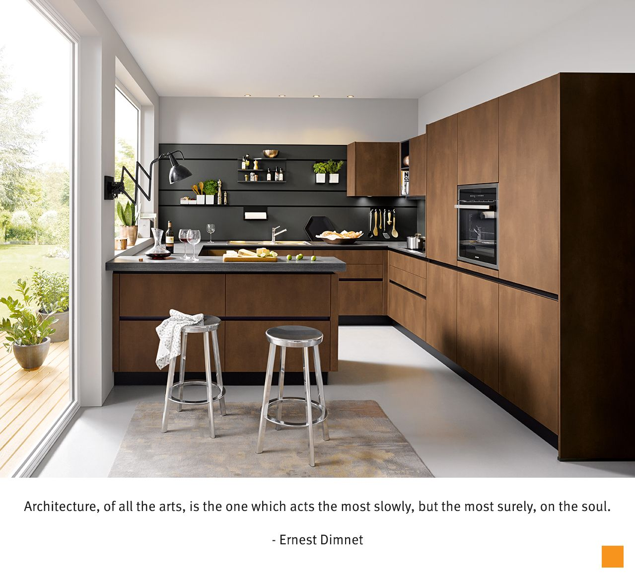 Schuller C Kitchen The Bronze Coloured Front Leaves A Timelessly Elegant Impression In Combi Contemporary Kitchen Design Kitchen Design Trends Kitchen Trends