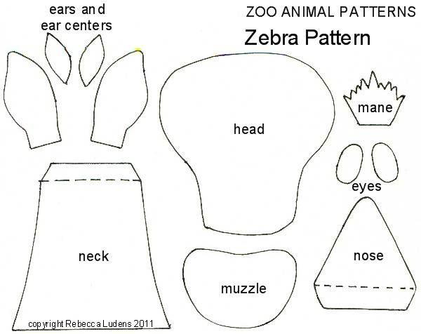Printable Stuffed Animal Sewing Patterns Animal Free Paper Piecing