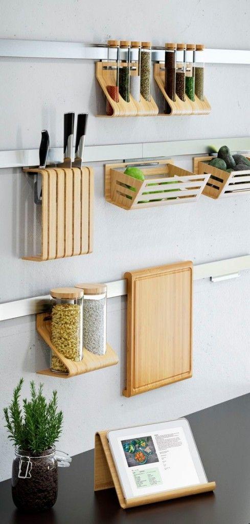 20 ideas para ahorrar espacio en la cocina de forma for Ideas decorativas para cocinas pequenas