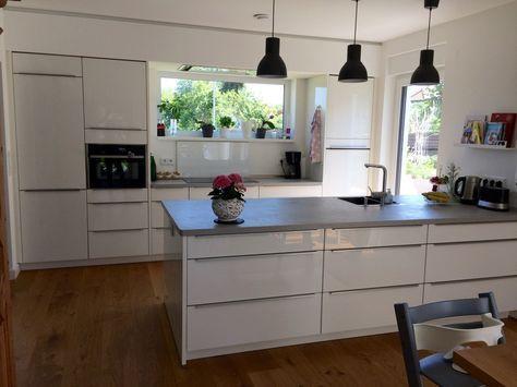 Unsere neue Küche ist fertig. Der Hersteller ist: Nobilia - - Stilrichtung: Moderne Küchen - Datum der Fertigstellung: Januar 2016 #contemporarykitcheninterior