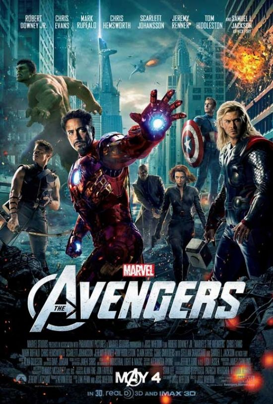 The Avengers Movie Poster Print 27 X 40 Item Movab45105