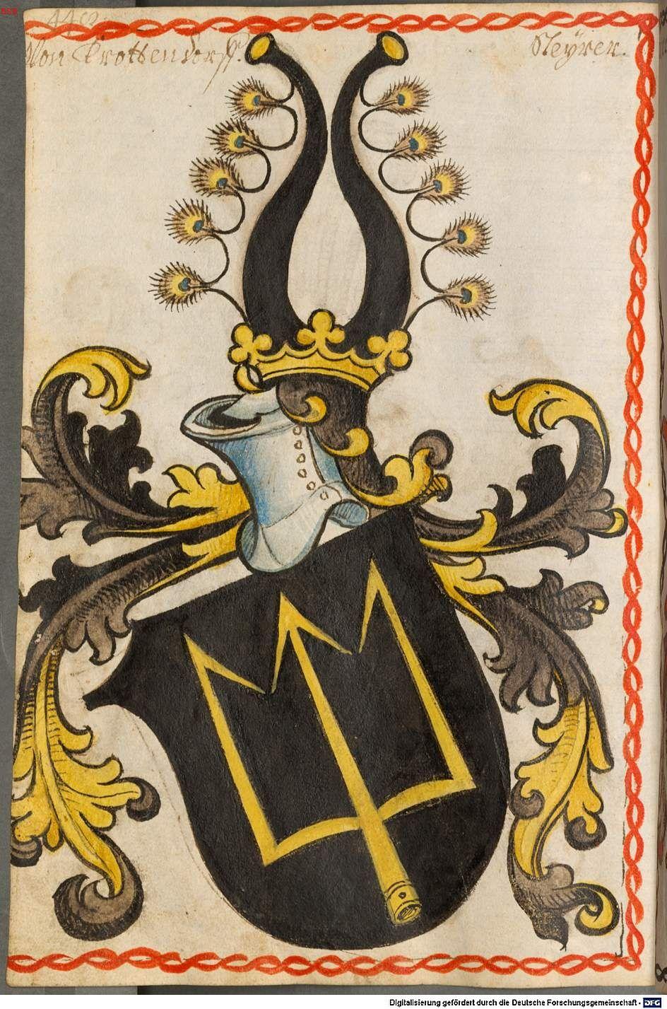 Scheibler'sches Wappenbuch Süddeutschland, um 1450 - 17. Jh. Cod.icon. 312 c  Folio 448