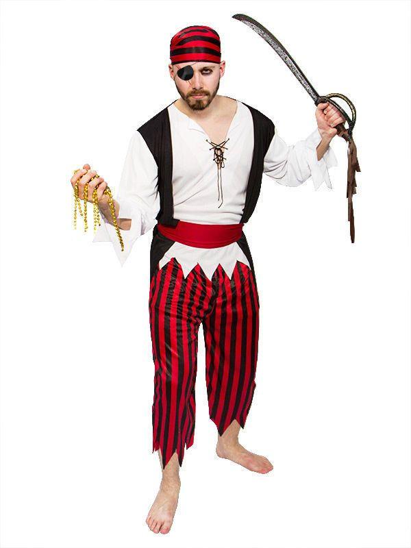 Pirat Kostüm Seeräuber schwarz-weiss-rot, aus unserer Kategorie ...