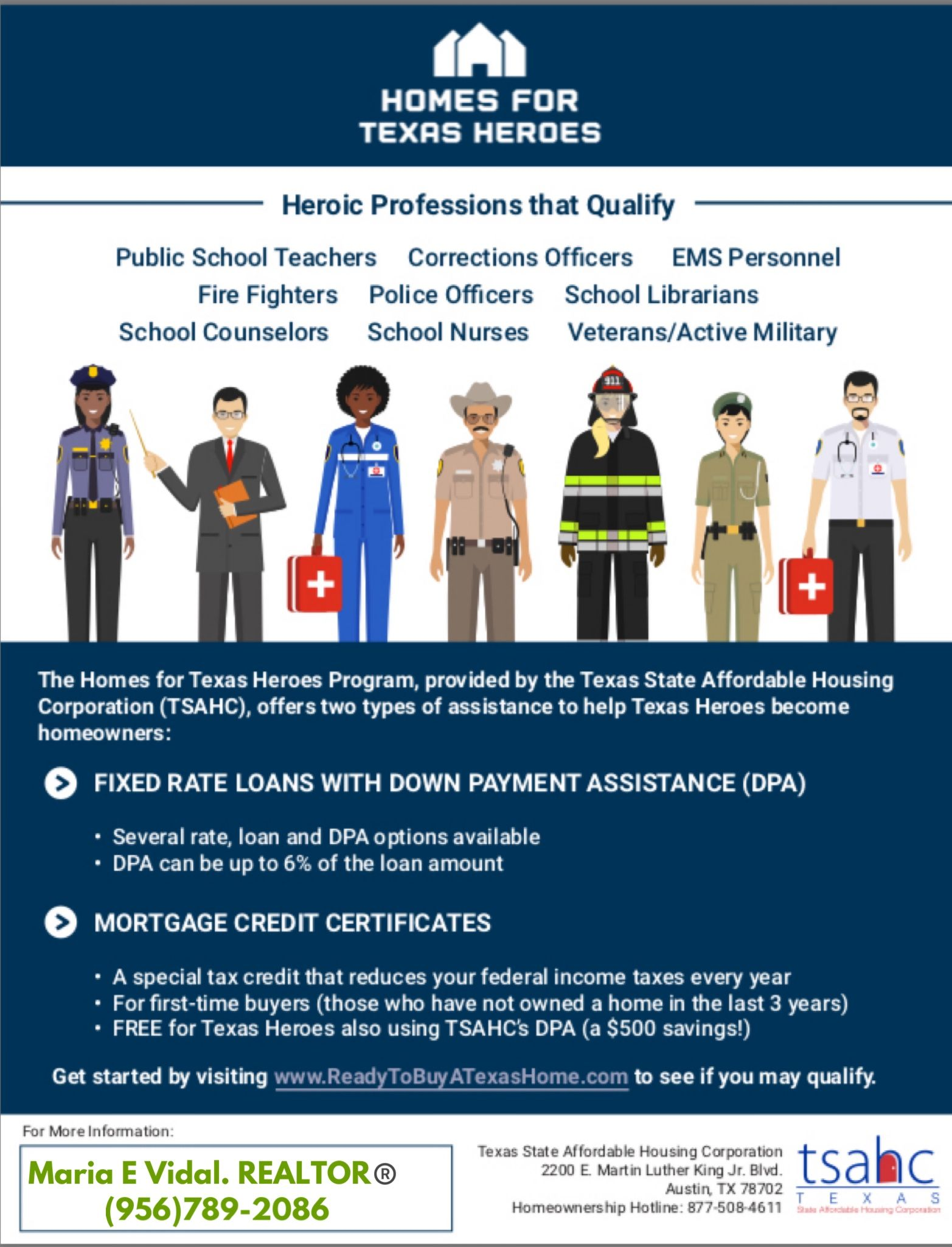 Homes For Texas Heroes School Librarian School Counselor Correctional Officer