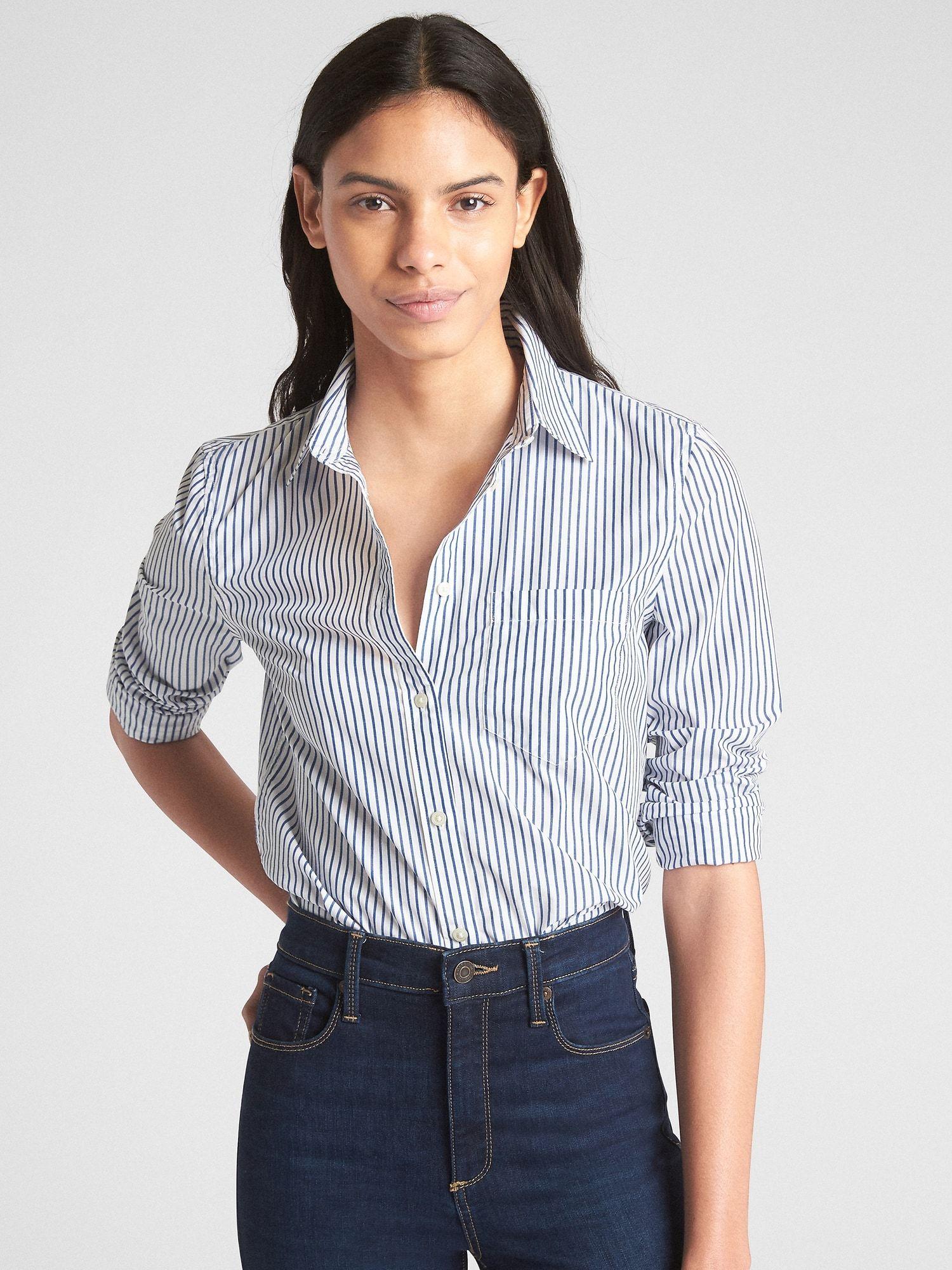 5bc1c547 Fitted Boyfriend Stripe Shirt in Poplin in 2018 | Dress to Impress ...