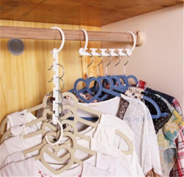 New Hanger Hook Holder Space Saving Hanger Magic Clothes Hanger With Hook  Closet Organizer Home Tool
