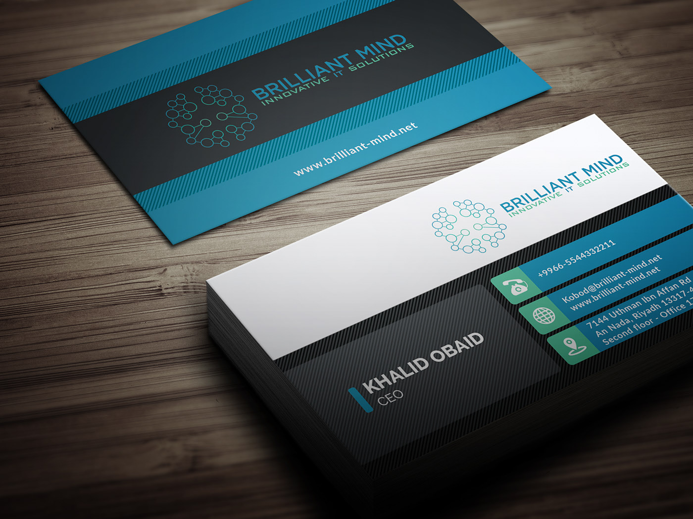 Business Card For It Solution Company On Behance Business Cards Business Card Template Psd Company Business Cards