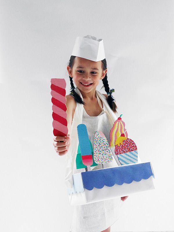 Handcrafted cardboard ice creams box the junior purim diy costumes solutioingenieria Image collections