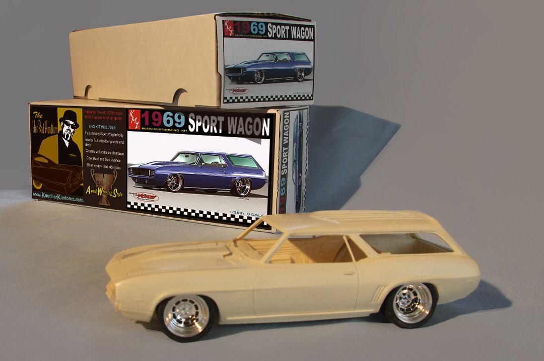 '69 Camaro Sport Wagon 1/25th resin customizing kit by KMT Models